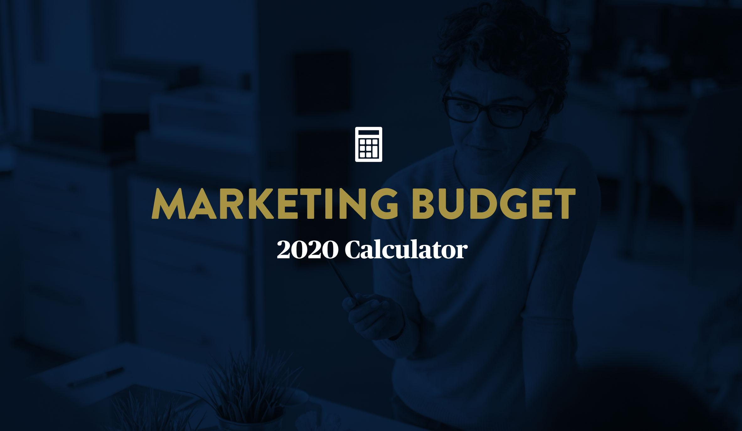 Marketing Budget Breakdown for 2020