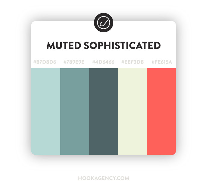 Muted / Sophisticated Color Scheme Palette 2020