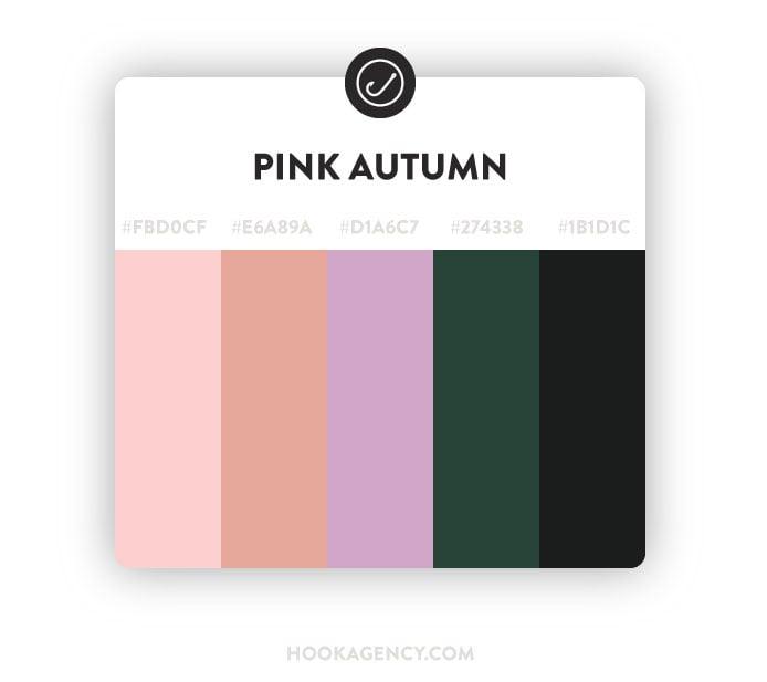 Pink Autumn Color Palette 2020