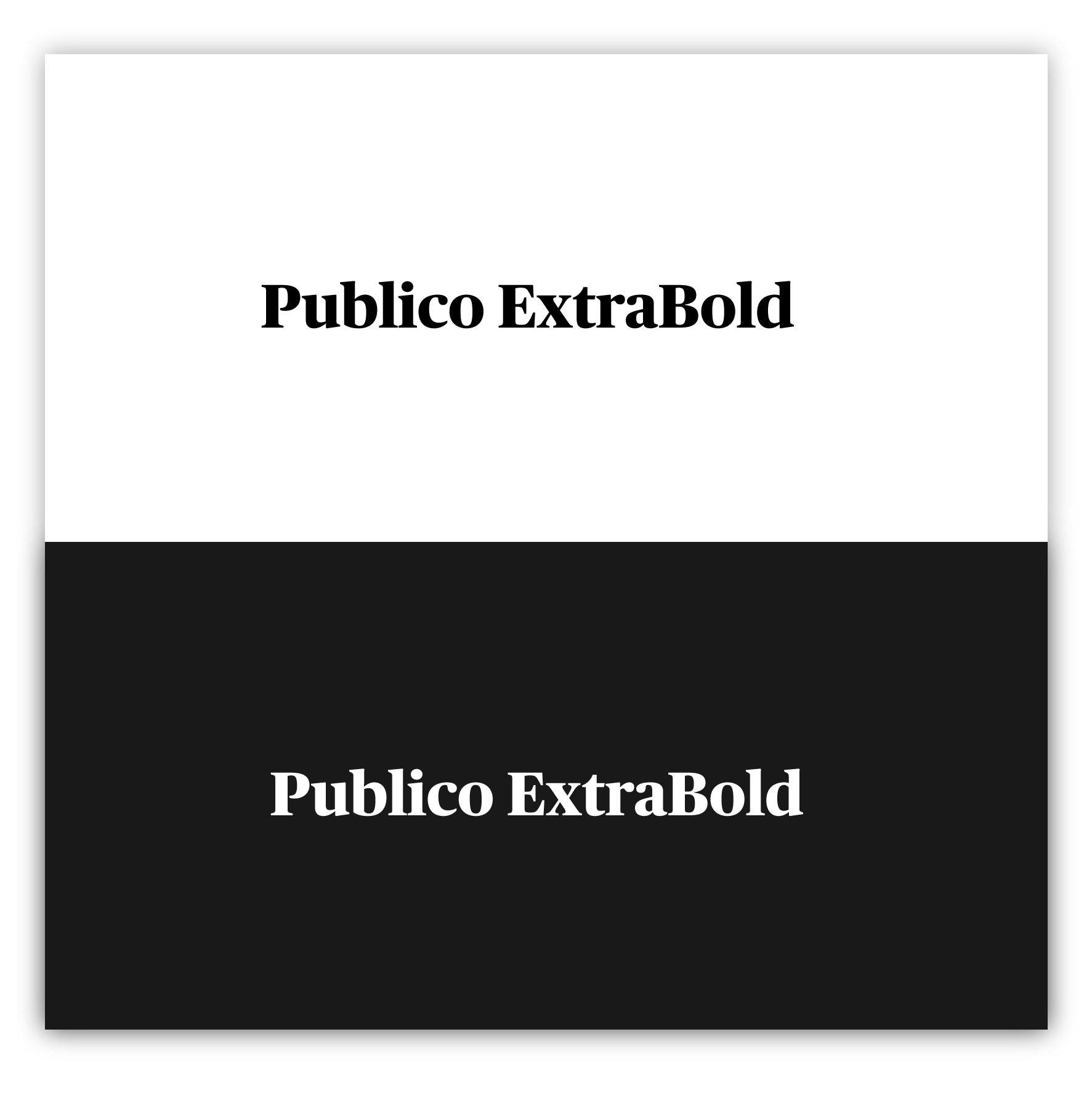Publico ExtraBold - Modern Fonts 2020