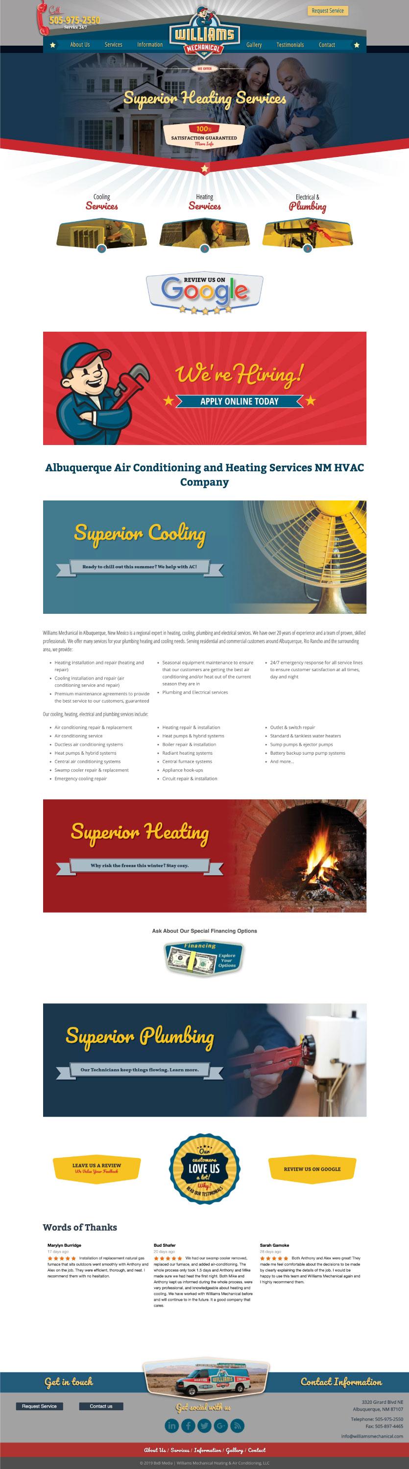 Web Design Plumbing Inspiration