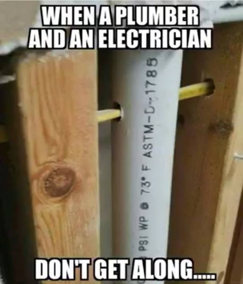 plumber and an electrician don't get along