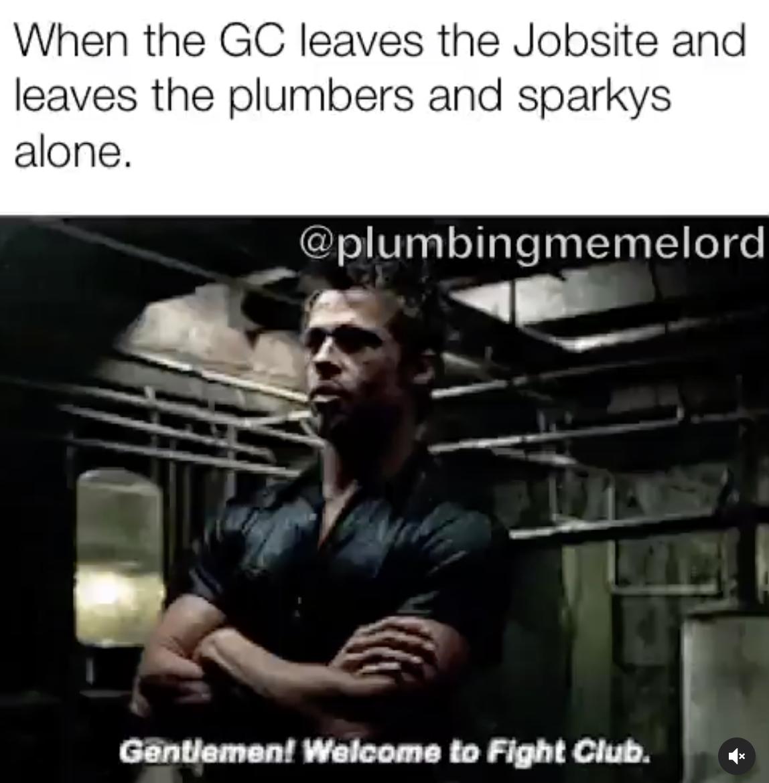 man standing in dark basement meme