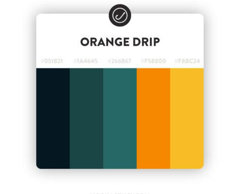 orange and green website color scheme 2021
