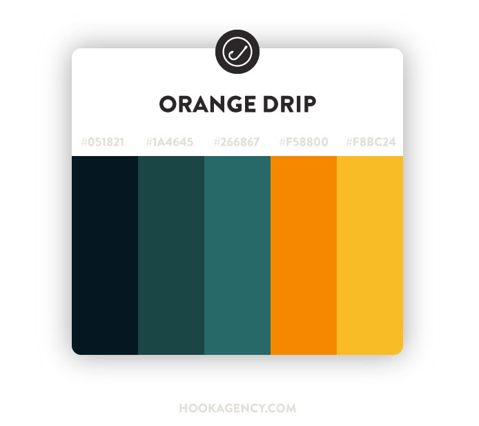 orange and green website color scheme 2021