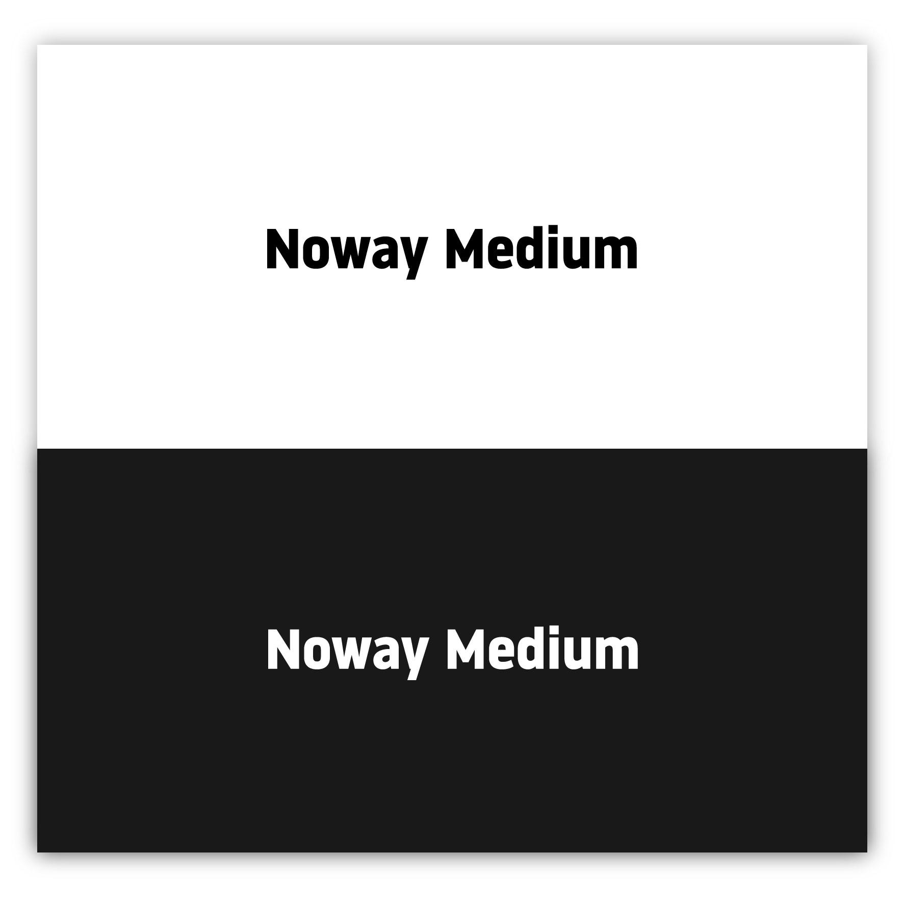 Medium Noway - Best fonts of 2021