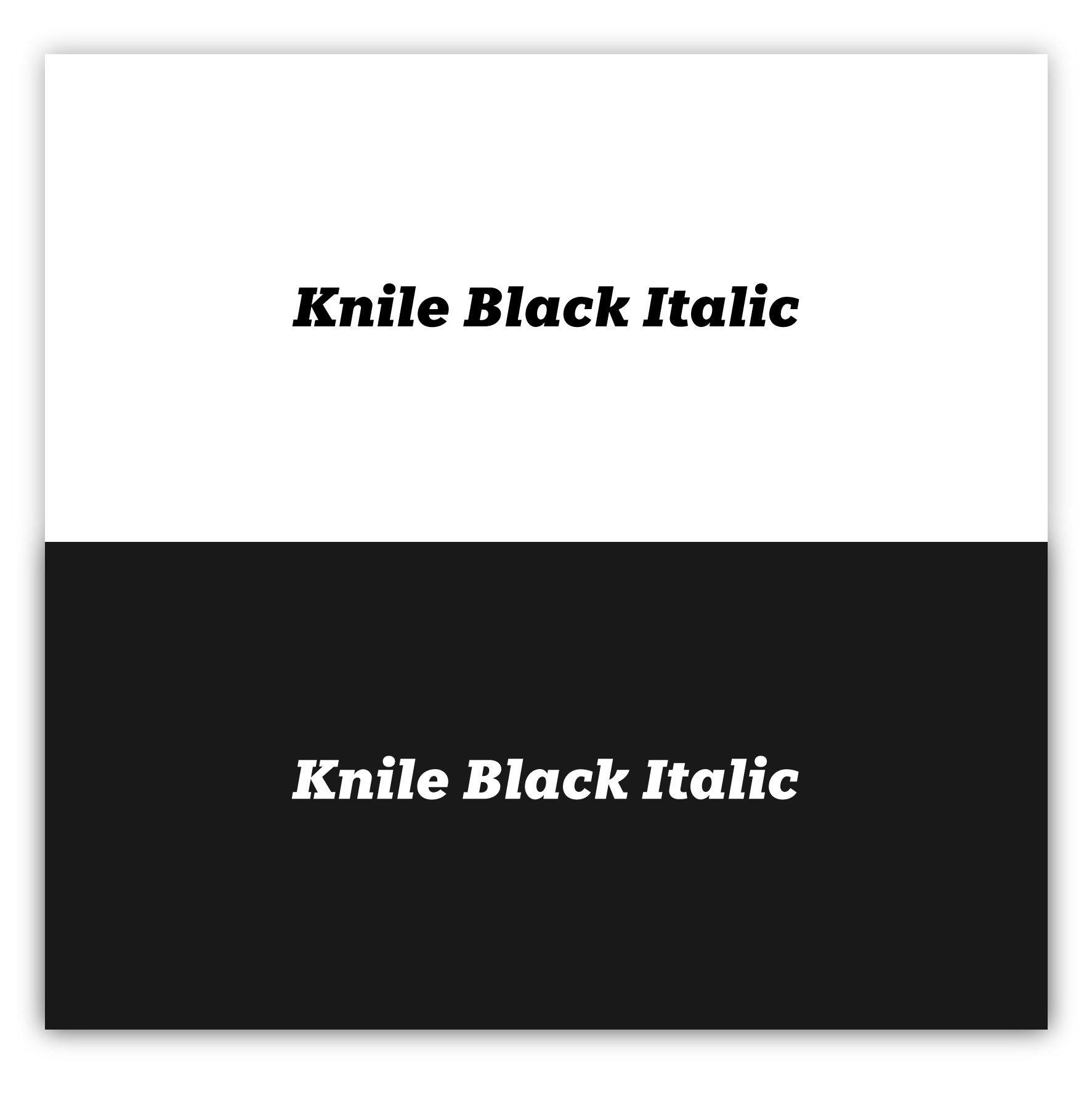 Knile Black Italic
