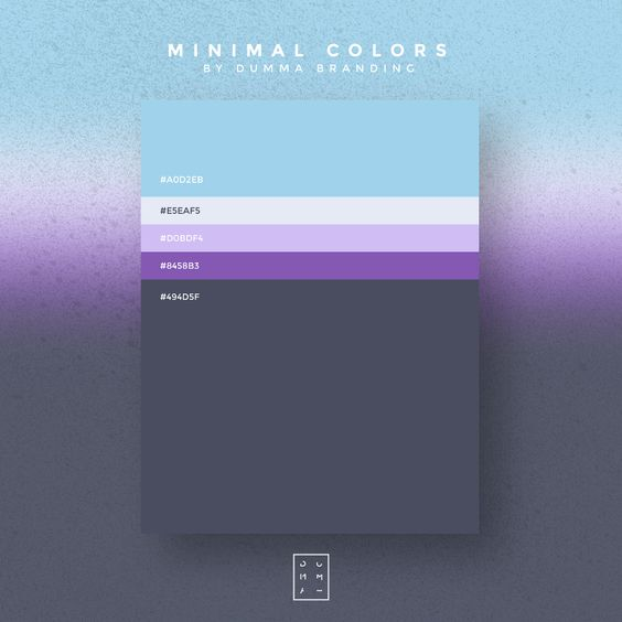 Purple Blue, Slate White color Scheme