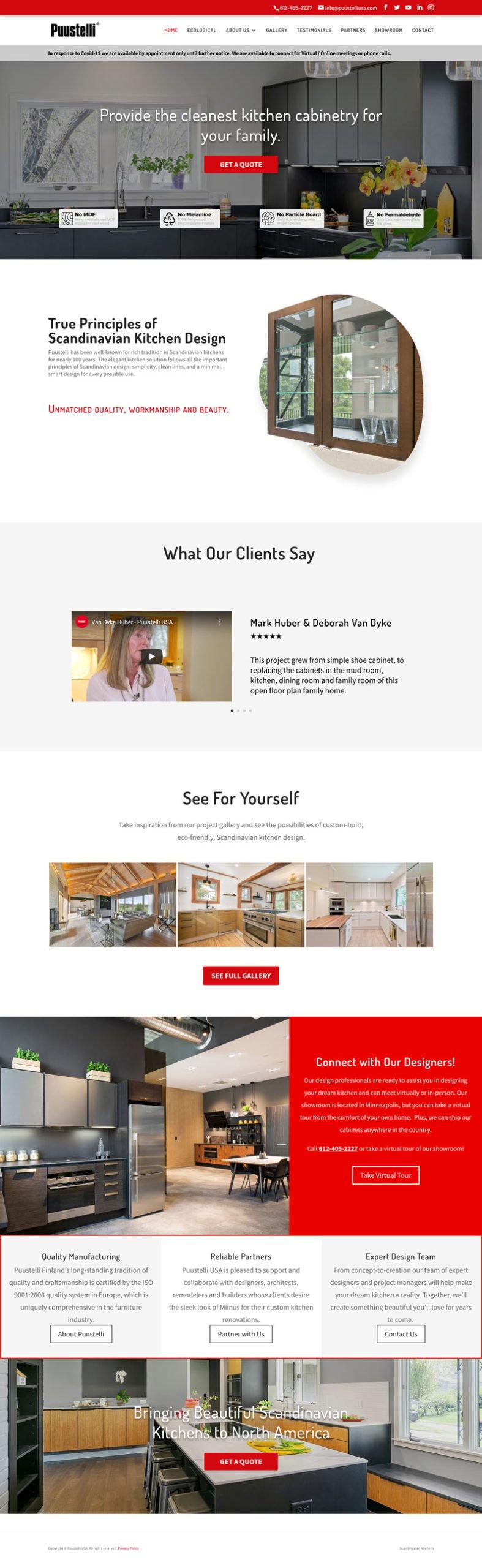Puustelli Construction Materials Website Design