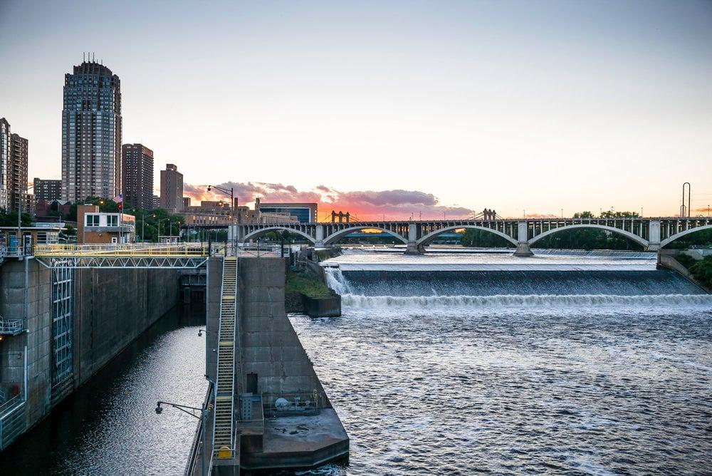 Minneapolis history - st Anthony falls