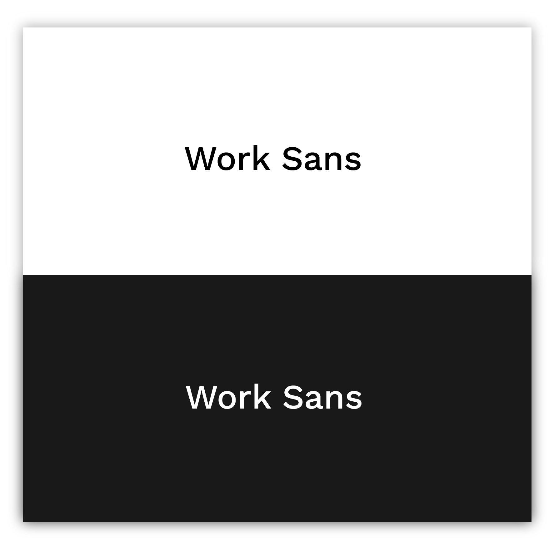 Work Sans 201 - best sans-serif fonts of 2021