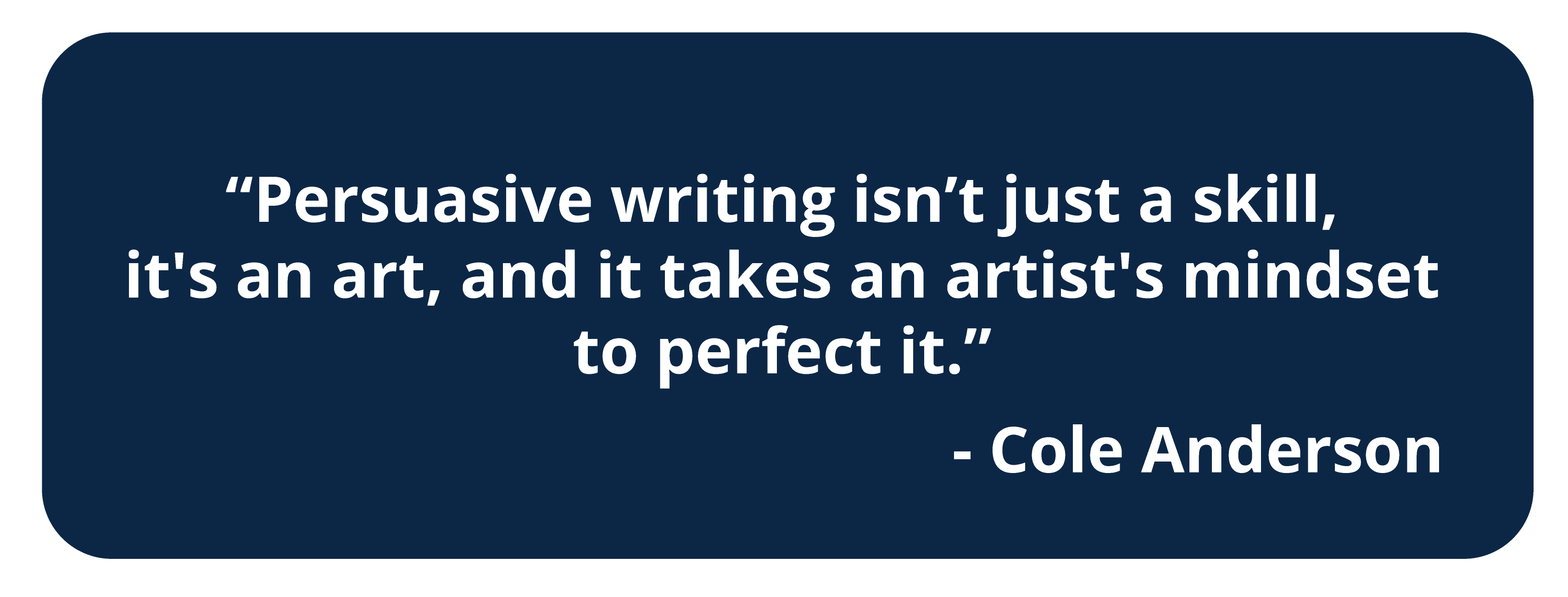 Quote, about persuasive writing