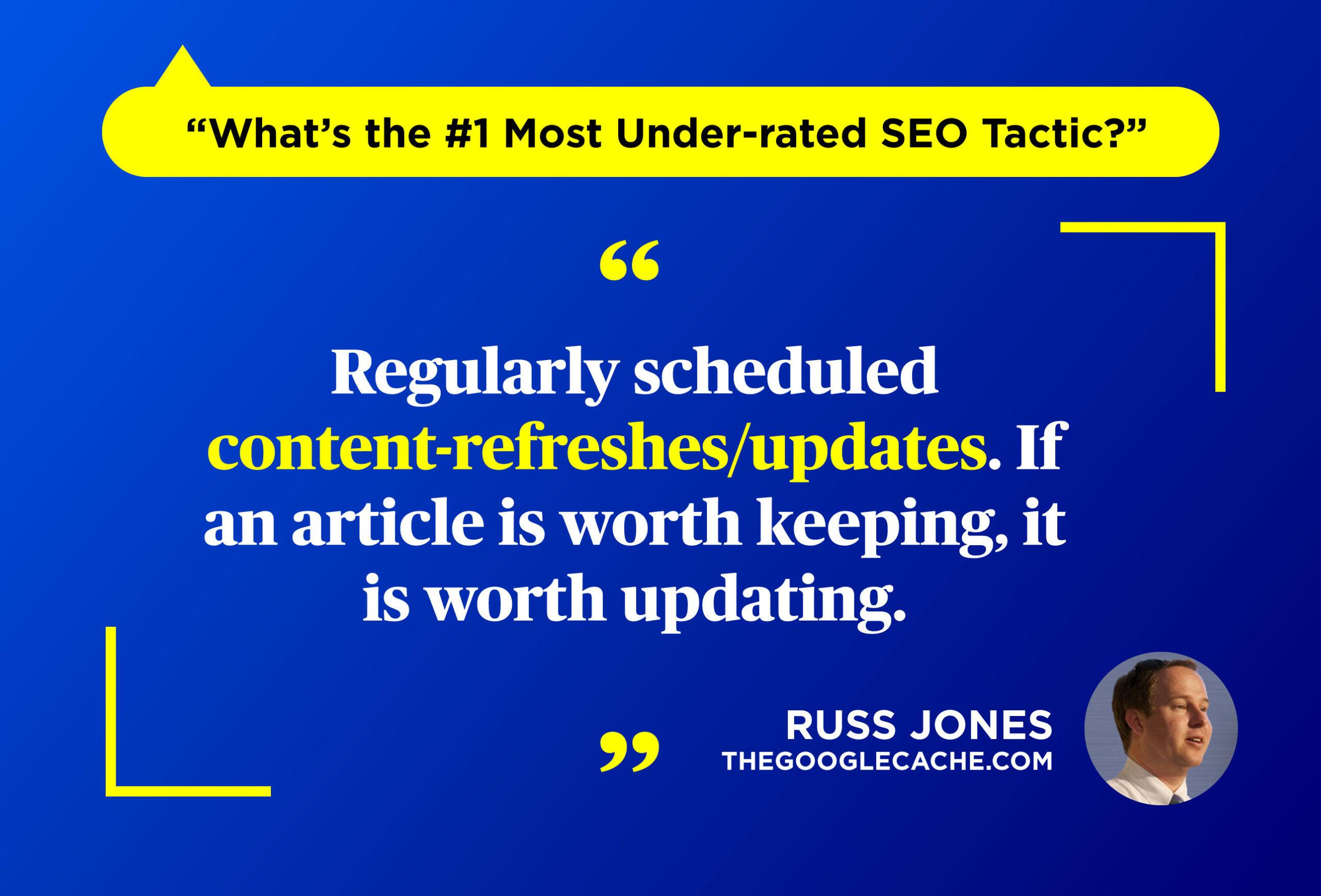 Under-rated SEO tactic - Russ Jones on Twitter