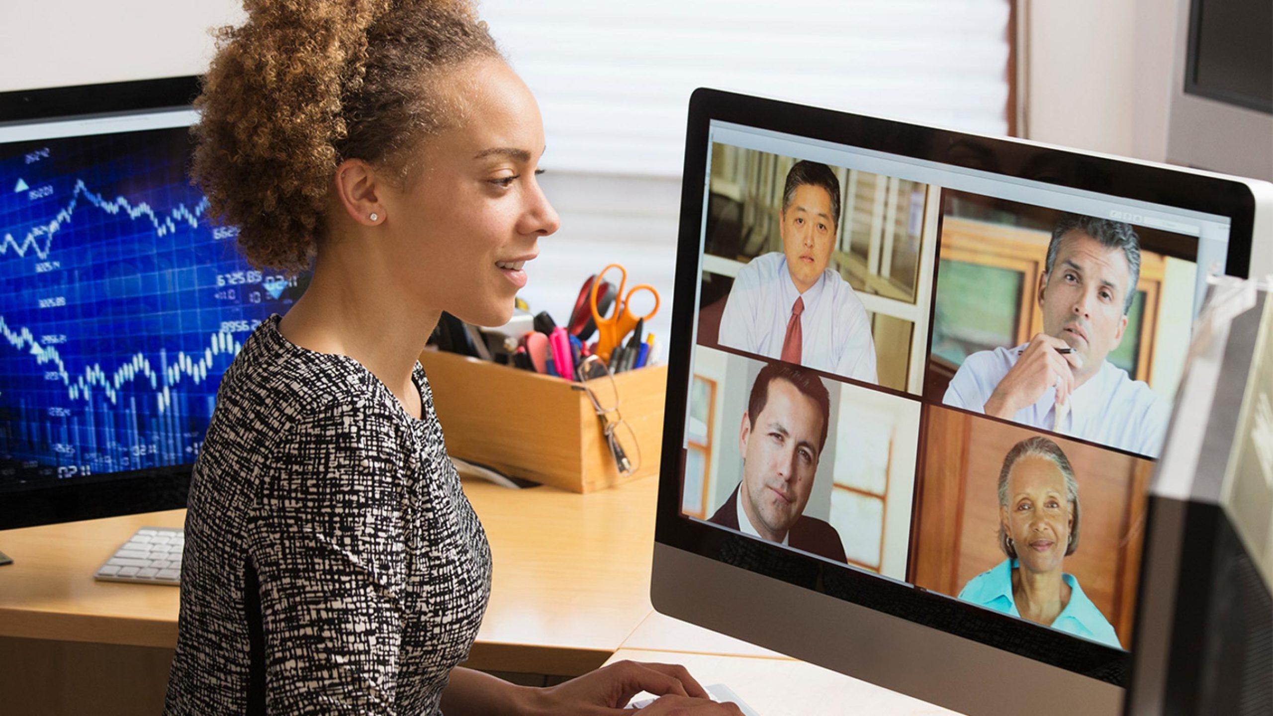Face toward a window during a video call