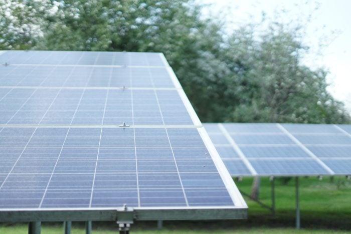 Solar panels as a ground mount system. Solar lead generation strategies.
