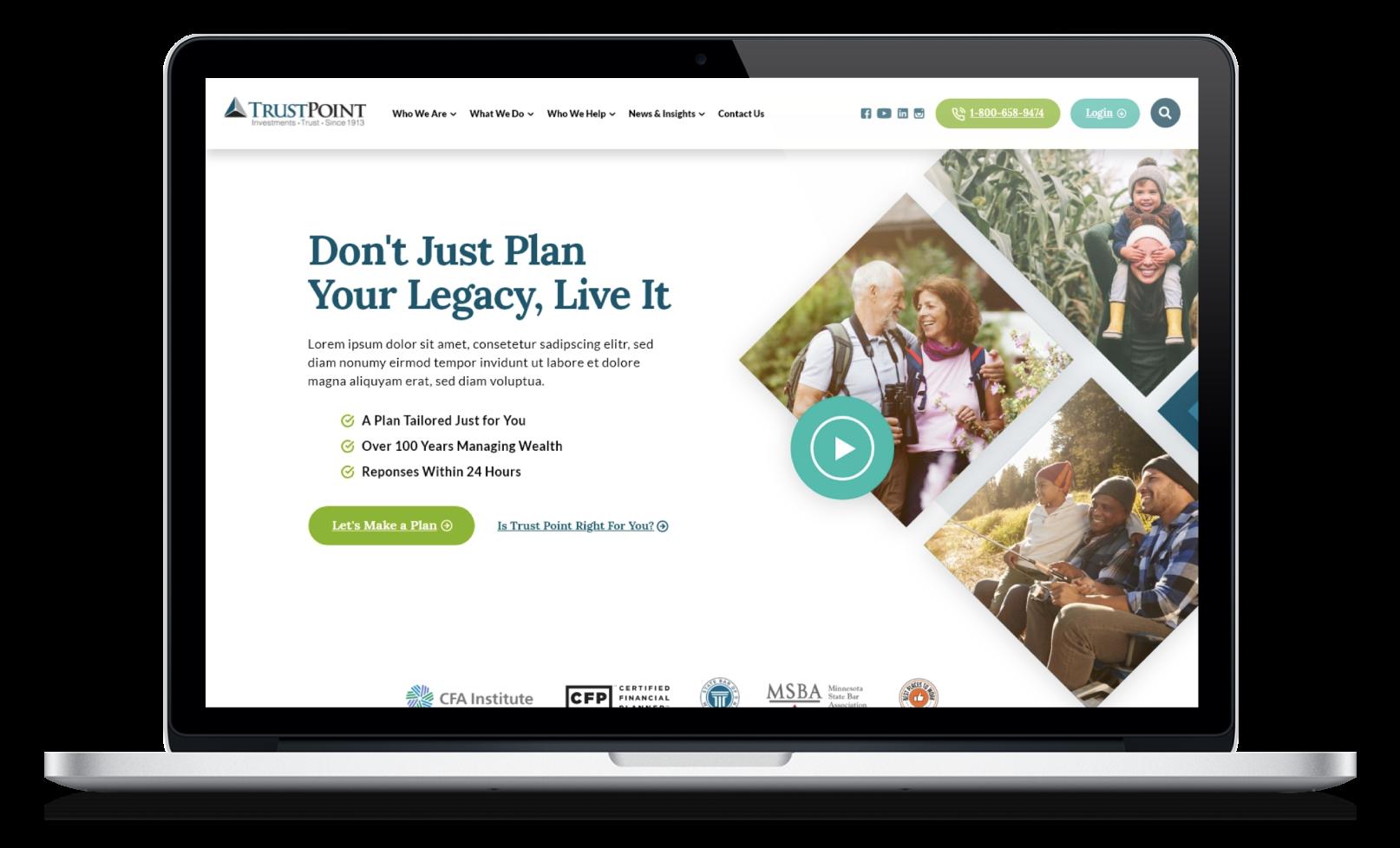 Trust Point Financial Services Website Design