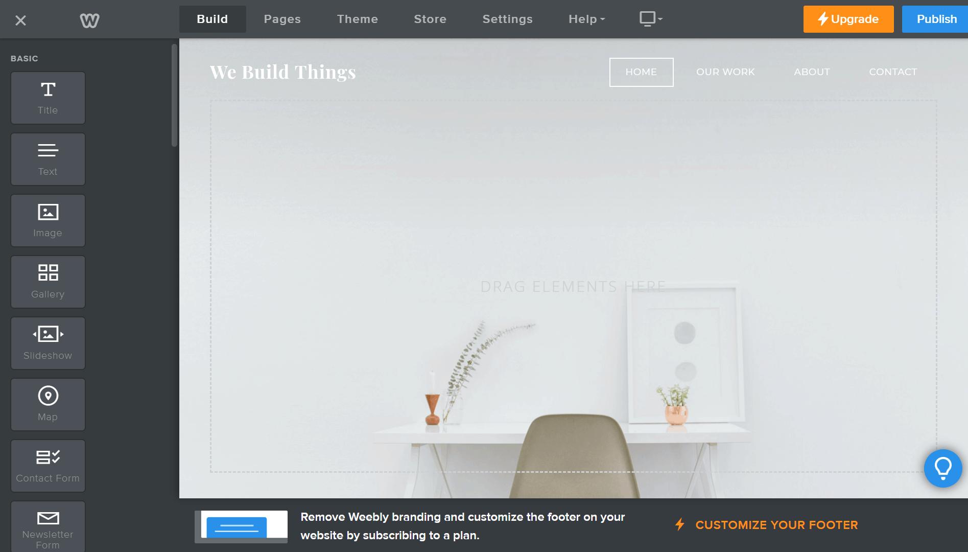 HVAC Website builders Weebly