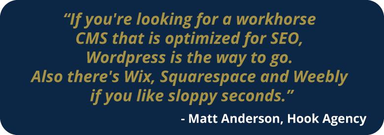 WordPress for SEO.