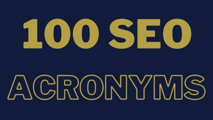 seo acronyms