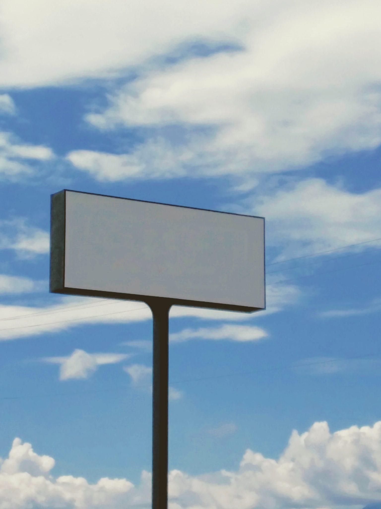 Empty billboard for marketing.