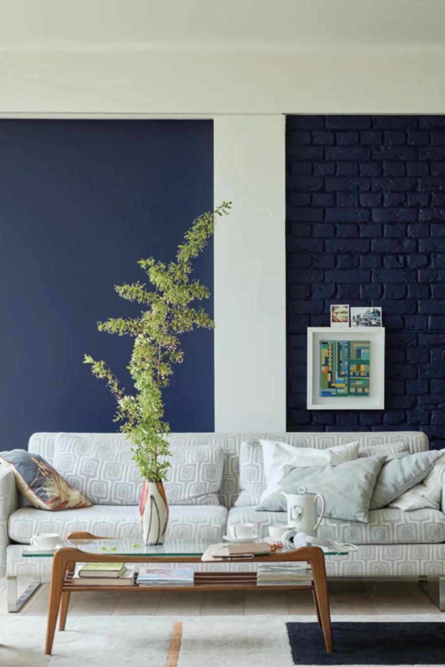 Scotch Blue - Farrow & Ball Decor Color Palette for 2021, interior decoration website design color mood board hook agency