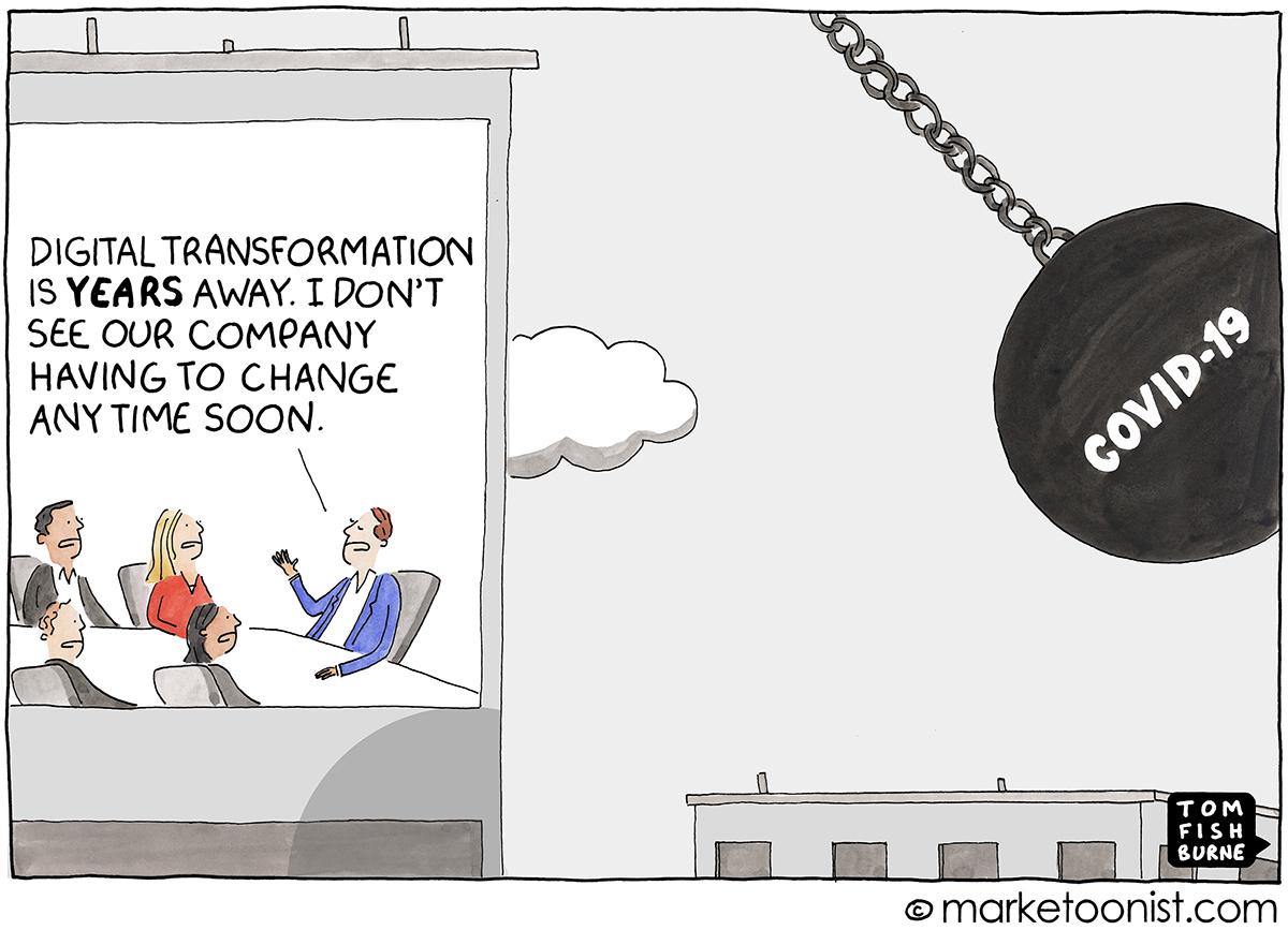 Marketoonist Digital Transformation Covid-19