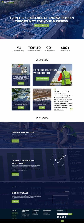 Select Energy Solar Installer - Contractor Website Design Inspiration