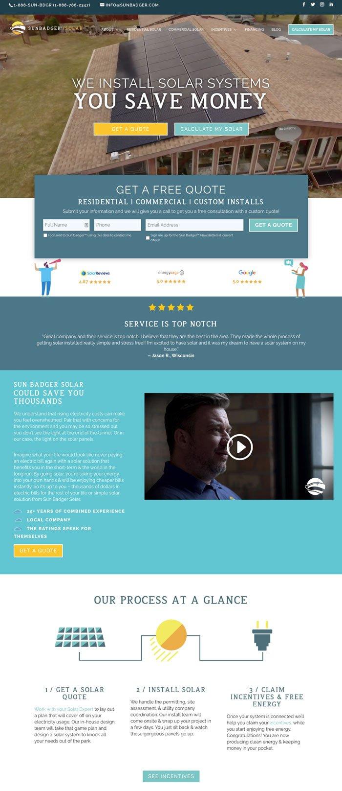 Solar Website Design Inspiration
