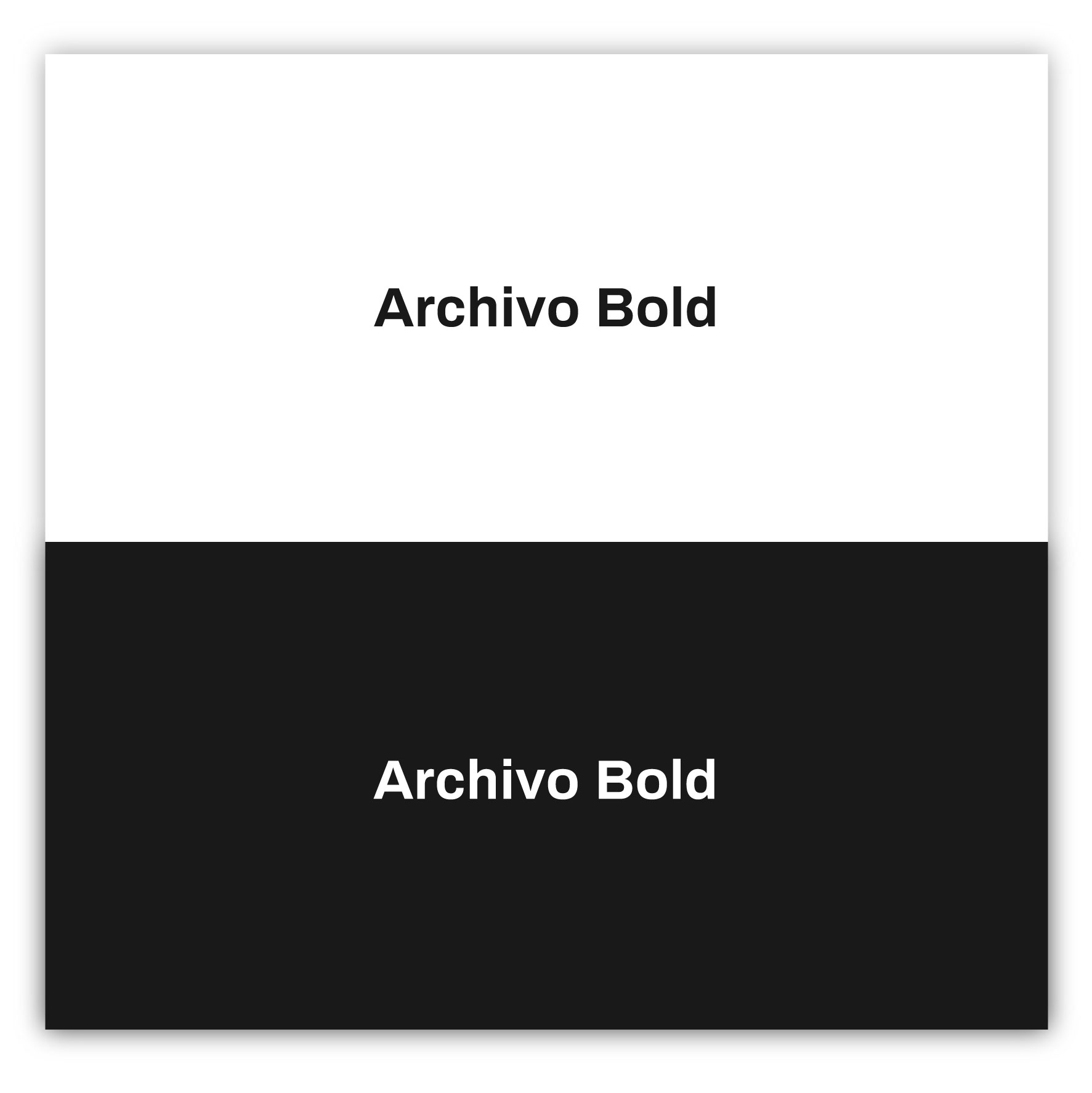 Archivo Bold - 2021 Fonts Best Design in Graphic and Web Design