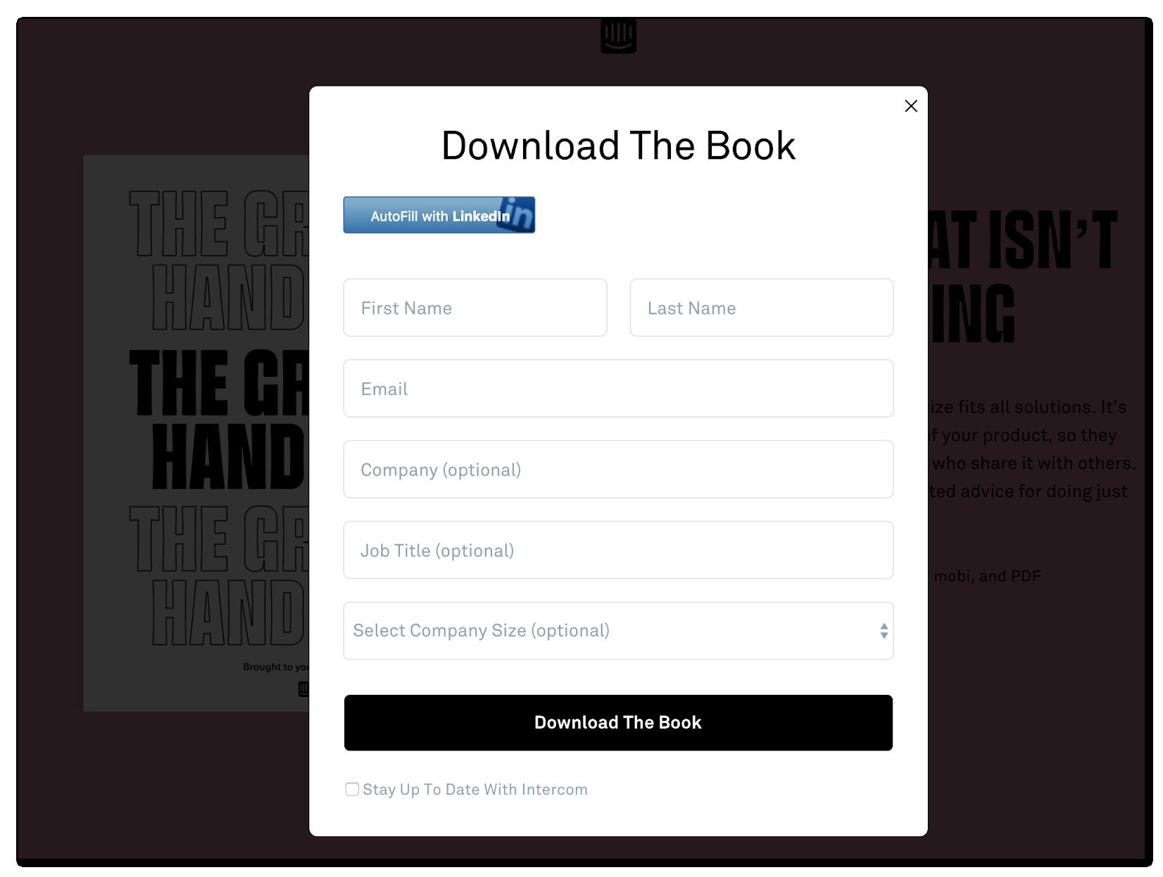 Download an e-book - inbound marketing