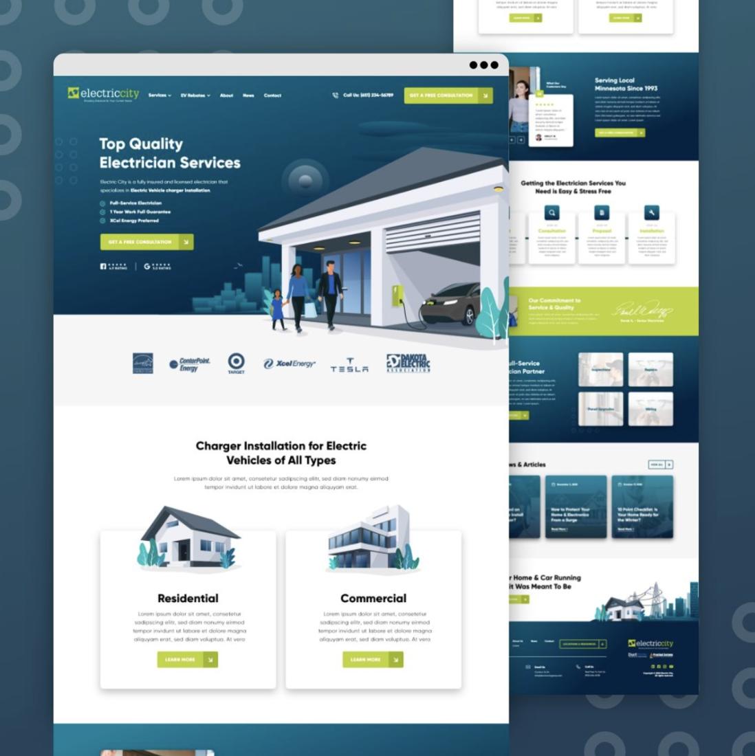 Electrician Marketing Lead Generation Website Design