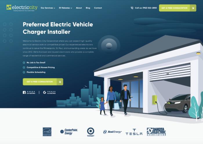 Electrician Website Design Inspiration