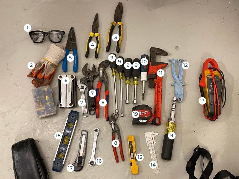 HVAC Tools List - Toolkit