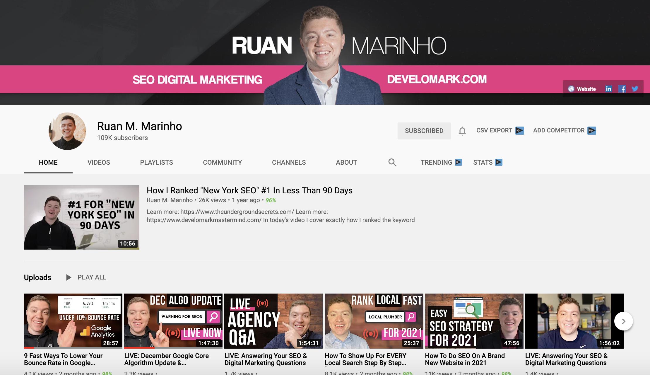 Ruan Marinho - Marketing for Contractors SEO, PPC, ETc