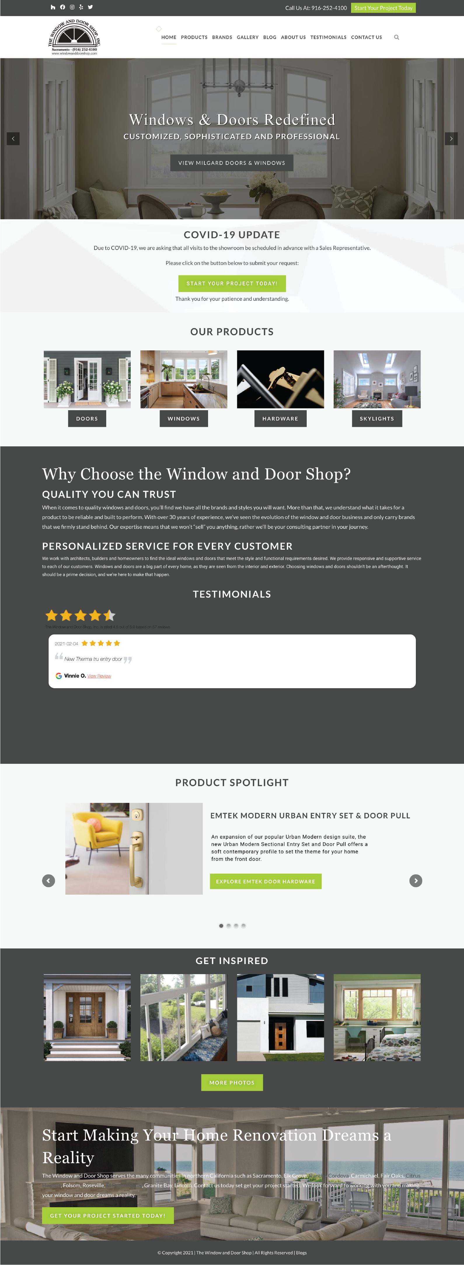 Windows and Doors Contractor Website Design inspiration