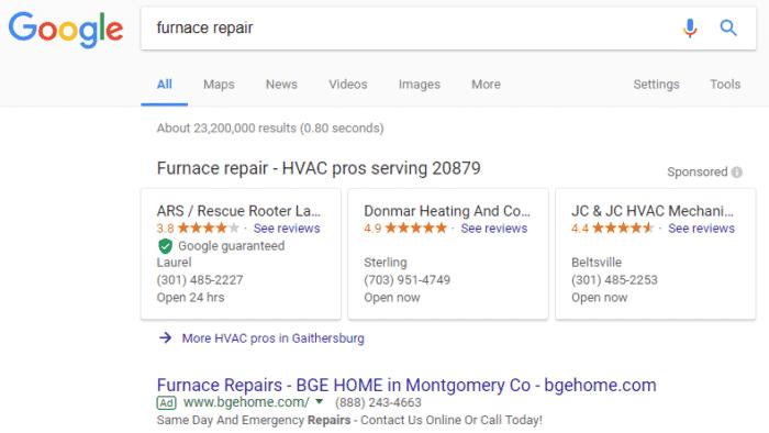 google local services ad-HVAC