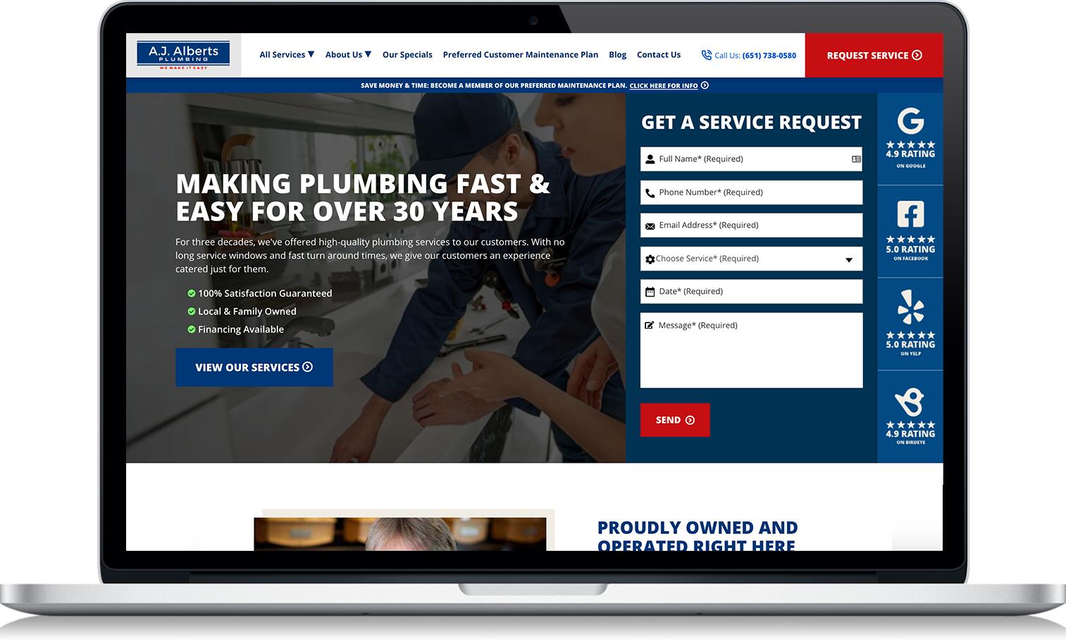 Plumbing Marketing - Web Design